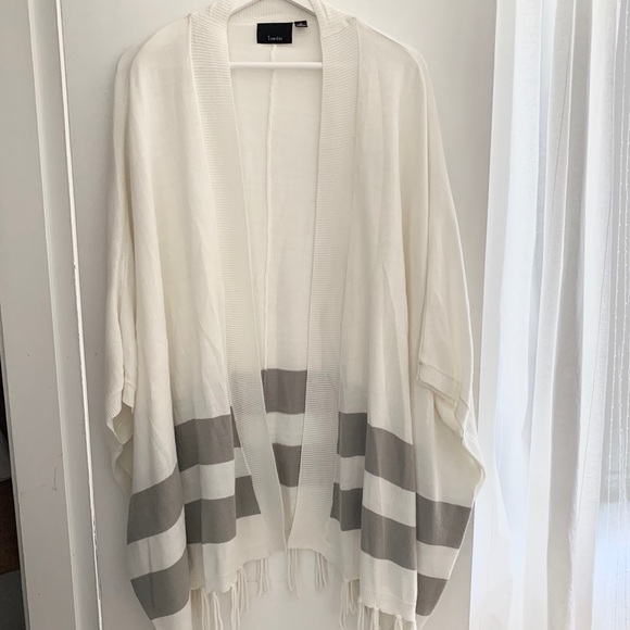 Lumiere -  White and Grey Cardigan